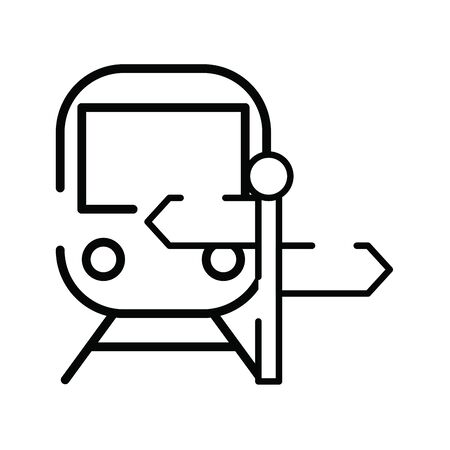 subway transport vehicle with arrows signal vector illustration design Illustration