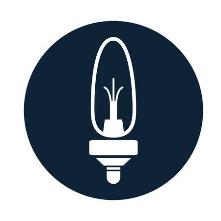 car bulb light assembly piece flat icon vector illustration design Banque d'images - 137801027