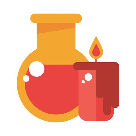 candle fire flame with tube test vector illustration design Imagens - 137802578