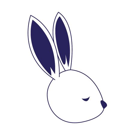 cute rabbit icon over white background, vector illustration 일러스트