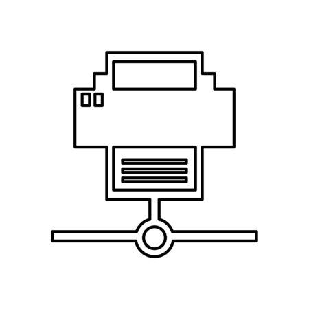 printer device hardware isolated icon vector illustration design 向量圖像