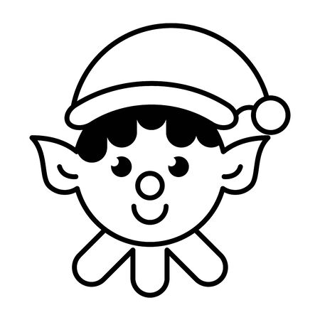 cute santa helper christmas character vector illustration design Standard-Bild - 137850580