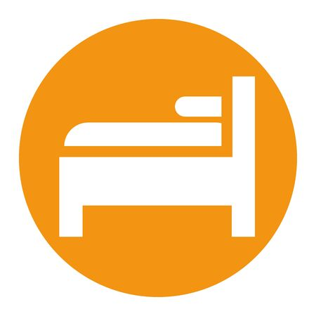 bed and pillow forniture isolated icon vector illustration design