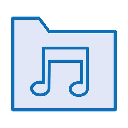 folder with music note sound vector illustration design