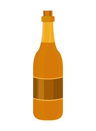 champagne bottle drink isolated icon vector illustration design Stock fotó - 137864574