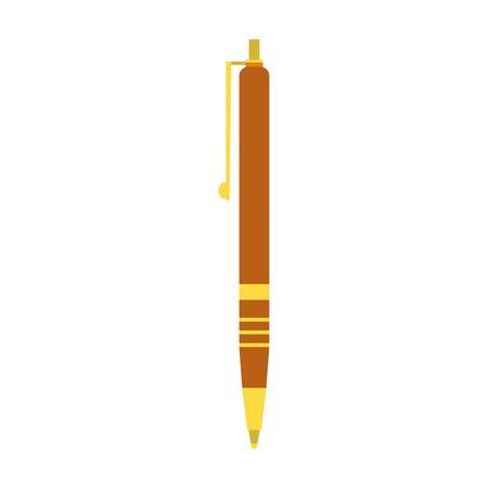 elegant pen icon over white background, colorful design, vector illustration