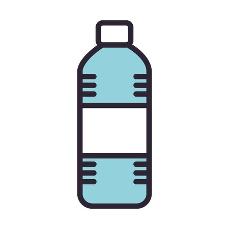 bottle water drink isolated icon vector illustration design Çizim
