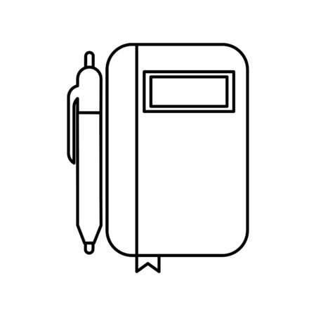 diary with pen isolated icon vector illustration design
