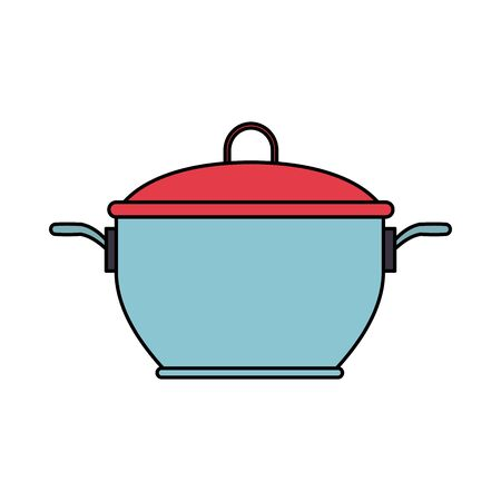 cooker icon, over white background, vector illustration