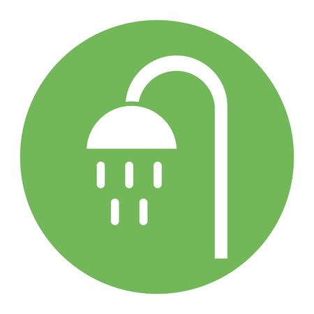 shower tap house accessory icon vector illustration design 向量圖像