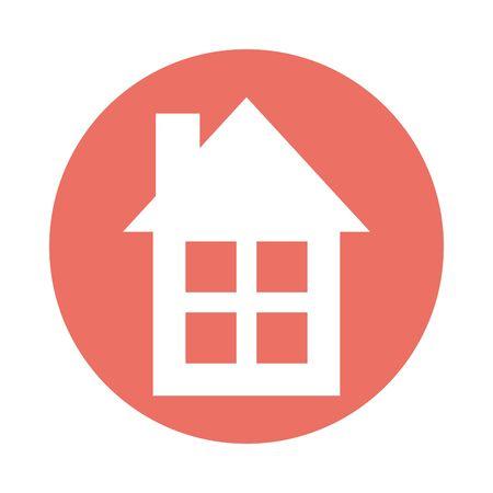 house building facade isolated icon vector illustration design Illusztráció