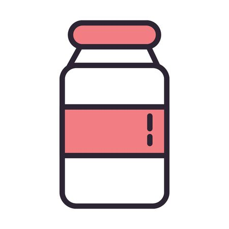 plastic medicine bottle isolated icon vector illustration design