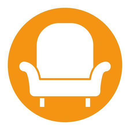 livingroom sofa forniture isolated icon vector illustration design