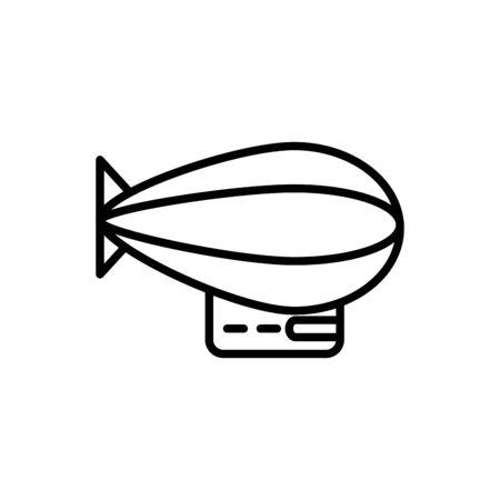 zeppelin airship transport linear design vector illustration