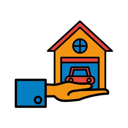 garage front facade isolated icon vector illustration design