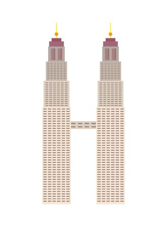 Petronas Towers architecture isolated icon vector illustration design Illustration