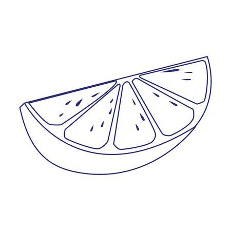 lemon design, Fruit healthy organic food sweet and nature theme Vector illustration Ilustrace