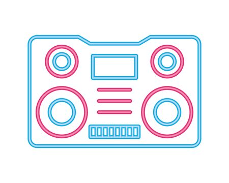 radio music player isolated icon vector illustration design Çizim