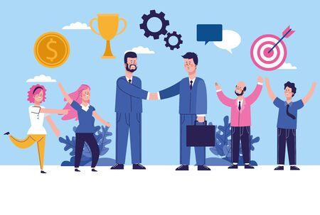 elegant business people workers characters vector illustration design Stock fotó - 137896923