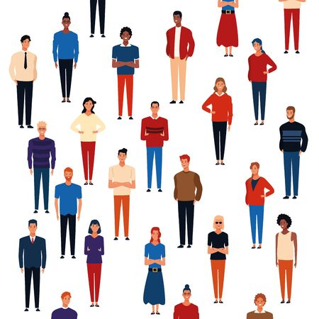 People background pattern cartoons vector illustration graphic design Illusztráció