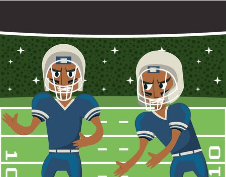 american football players playing characters vector illustration design Ilustrace