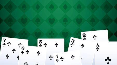 poker cards club betting game gambling casino vector illustration
