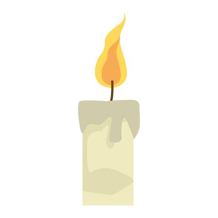 candle icon over white background, colorful design. vector illustration Иллюстрация