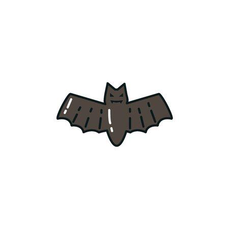 halloween bat animal flat icon vector illustration design Фото со стока - 138022407