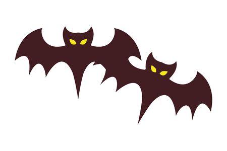 halloween bats flying animals icon vector illustration design Фото со стока - 138022472