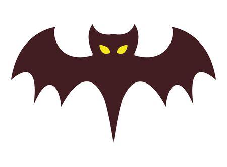 halloween bat flying animal icon vector illustration design Фото со стока - 138022643