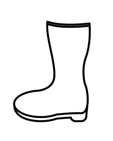 rubber boot gardening equipment icon vector illustration design