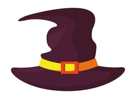 halloween witch hat accessory icon vector illustration design Фото со стока - 138022844