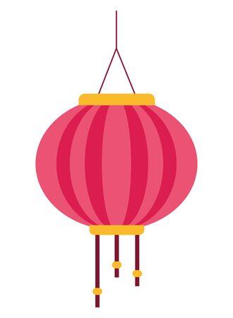 Chinese paper lantern hanging light ,vector illustration graphic design. Ilustracja