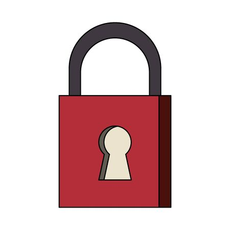 security padlock safety sign cartoon vector illustration graphic design Ilustracja