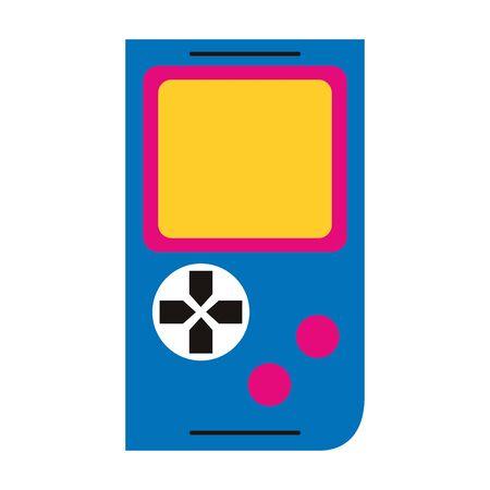 retro videogame portable icon over white background, colorful design. vector illustration
