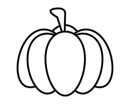 thanksgiving pumpkin vegetable isolated icon vector illustration design Ilustrace