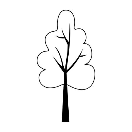 Autumn tree iconover white background, flat design, vector illustration Ilustracja