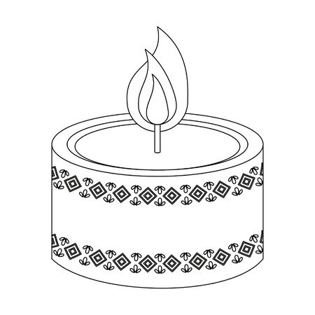 Decorative candle aromatherapy symbol isolated vector illustration graphic design