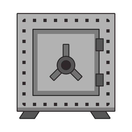 Strongbox money savings security symbol vector illustration