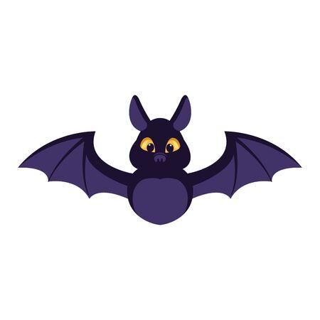 halloween bat bird flying icon vector illustration design Фото со стока - 138023240