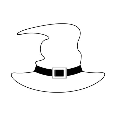 halloween october scary celebration, witch hat isolated cartoon vector illustration graphic design