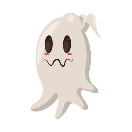halloween october scary celebration ghost isolated cartoon vector illustration graphic design Фото со стока - 138023242