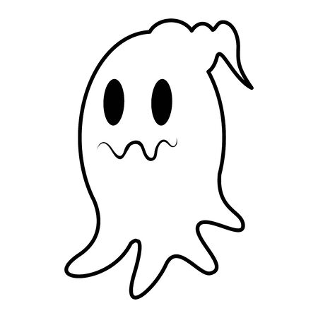 halloween ghost floating character icon vector illustration design Фото со стока - 137959771
