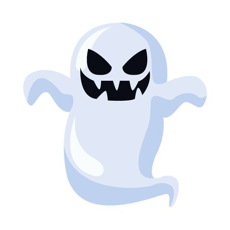 ghost floating halloween character icon vector illustration design Фото со стока - 137969218