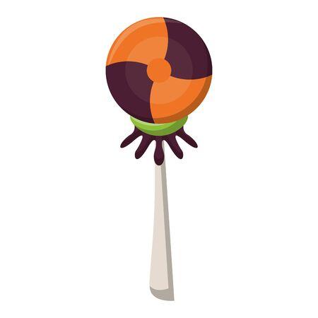 halloween october scary celebration lollipop candy cartoon vector illustration graphic design Фото со стока - 137970757