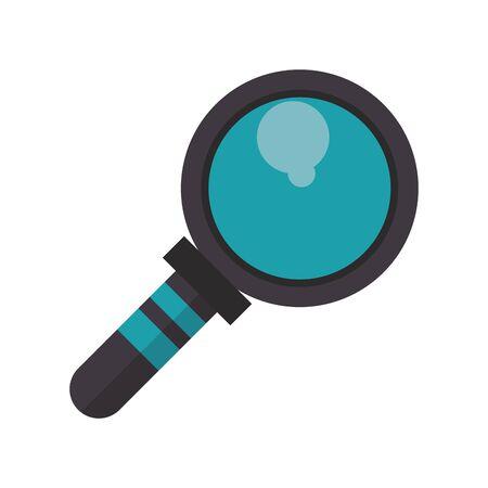 magnifying glass lab len cartoon vector illustration graphic design Illusztráció