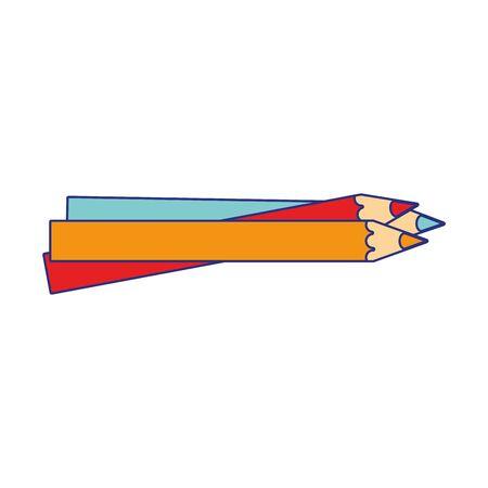 Set of colors pencils school utensils vector illustration graphic design vector illustration graphic design