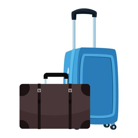 Travel luggage with wheels and suitcase vector illustration graphic design Foto de archivo - 137970794