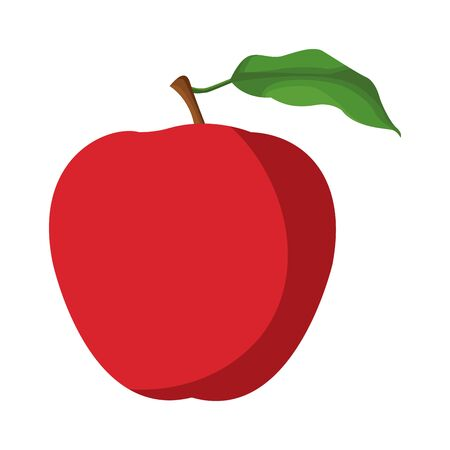 red apple fruit icon over white background, vector illustration