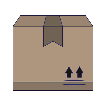 Delivery cardboard box isolated symbol vector illustration graphic design